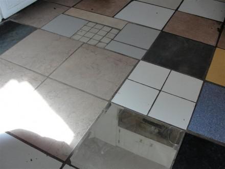 Mirror Tile on kitchen floor