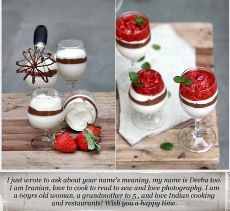 Dessert| White & Dark Chocolate Mousse Dessert with Strawberries ...