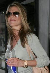 Jennifer Aniston, gentleman's rolex