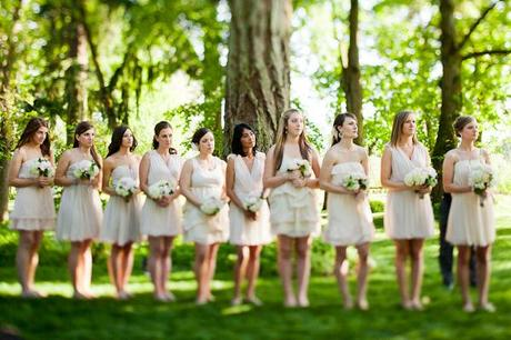 neutral bridesmaids dresses, blush bridesmaids dress, gray birdesmaids dress, bridesmaids dress inspiration