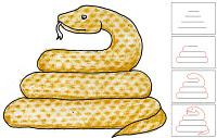 Draw a Snake with Texture