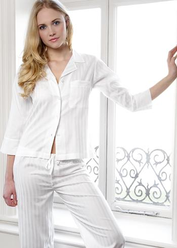 Moonriver Sateen Stripe Classic Pyjamas