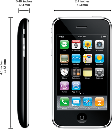 iPhone 3GS dimensions