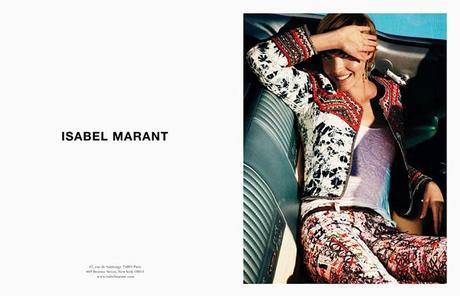 Arizona Muse smiles for Isabel Marant