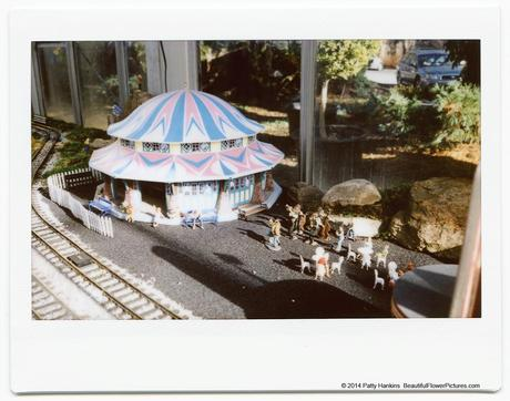 Carousel at Glen Echo, Train display at Brookside Gardens © 2014 Patty Hankins