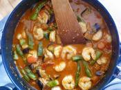 Prawn, Aubergine Green Bean Curry
