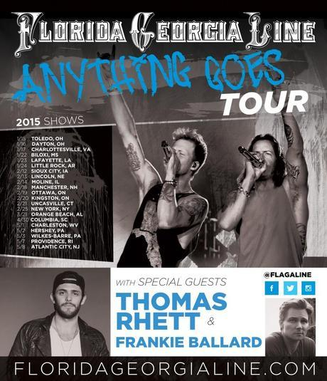 Florida Georgia Line - Anything Goes Tour featuring Thomas Rhett and Frankie Ballard