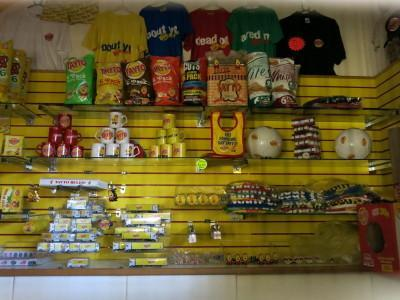 The gift shop at Tayto Castle.