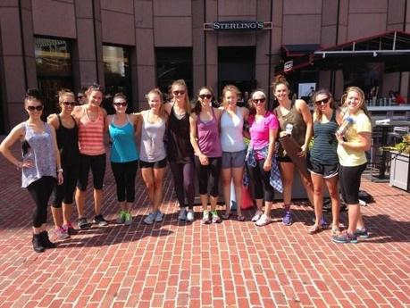 Bachlorette Party Pilates Group Shot