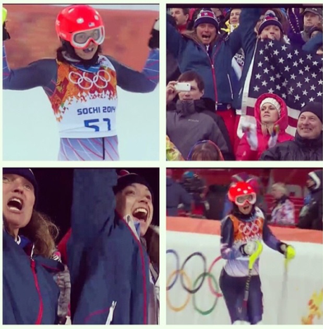 Julia Ford at the Sochi Olympics