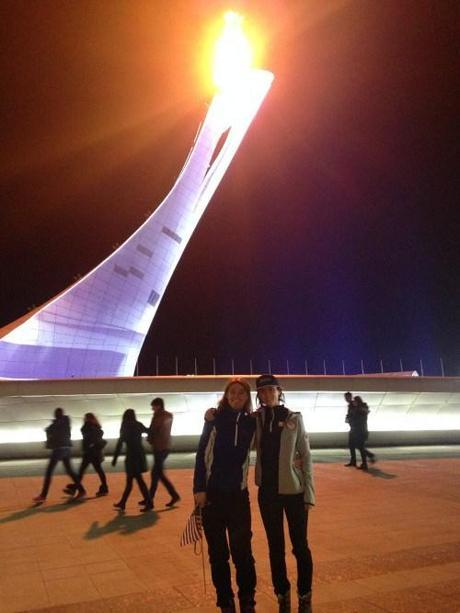 Mom And I At The Olympic Torch