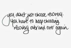 choosing to recover from eating disorder
