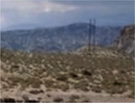 King of Kings (1961): are those telegraph poles?