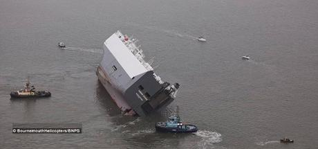 Car carrier with costly cars on boards itnentionally ran aground !! MV Hoegh Osaka