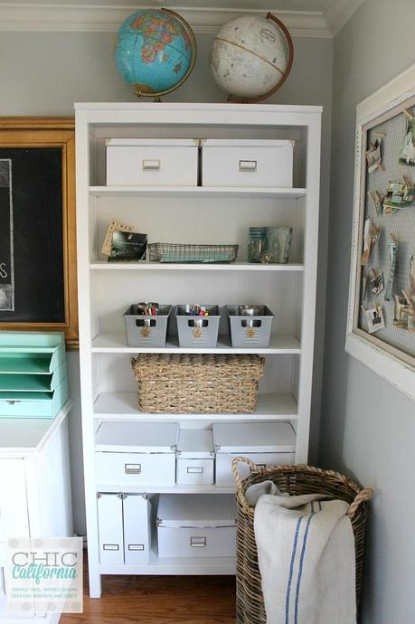 DIY Vintage Locker bins from the dollar store