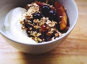 Toasted Oats with Apples Blueberries///