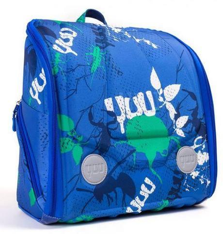 BUUZ – blue exterior with mottled aqua, green and white bugs, and bright aqua on the inside. Perfect for outdoor types and adventurers.