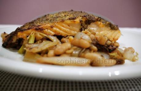Mustard-dill Glazed Salmon on a Bed of Deliciousness Using A