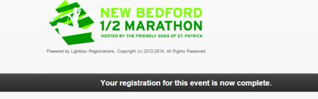 New Bedford Half Marathon Confirmation