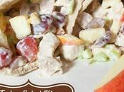Sweet Turkey Salad Pita Sandwiches with Apples Grapes