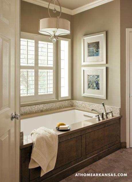 Bathroom tub surround - Soothing Sanctuary   At Home Arkansas