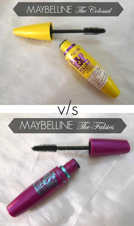 Maybelline Mascaras : The Colossal Volum' Express v/s The Falsies Volum' Express