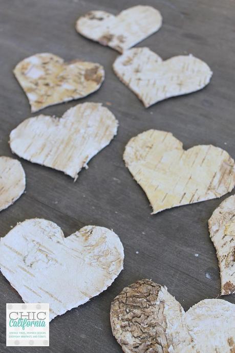 birch hearts