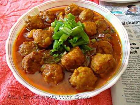 Chicken Kofta Curry ( Chicken Meatball Curry)