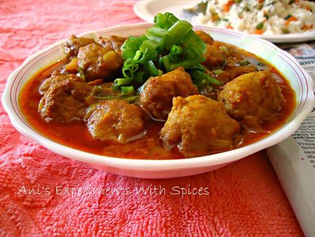 Chicken Kofta Curry ( Chicken Meatball Curry)