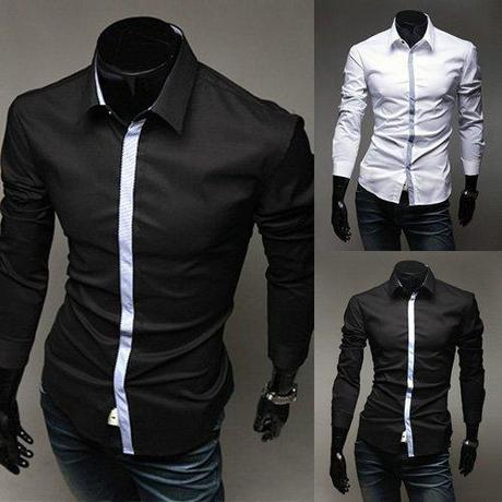 Mens-Fashion-Clothing-Best-Fit-Party-Retro-Black-Shirts-for-Men-MS049