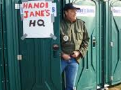 Hanoi Jane with Protest Frederick; Hopes Open Dialogue Vietnam-era Veterans