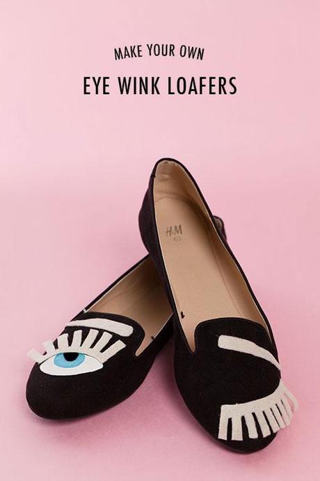 DIY eye wink loafer