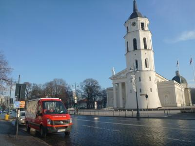 The meeting point of the Vilnius City Tour, Audio Guided Bus Tour of Lithuania's Capital