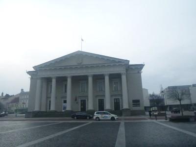 Town Hall Square in Vilnius.