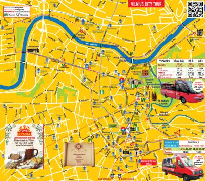 Map of the Vilnius City Tour