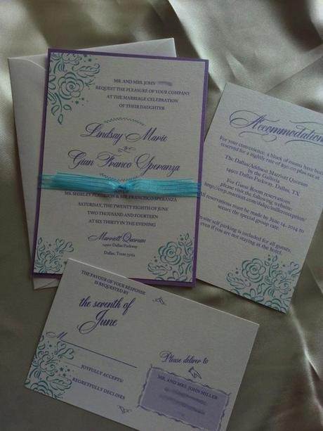 Post image for Orchid and Turquoise DIY Wedding with Dom Loves Mary Font