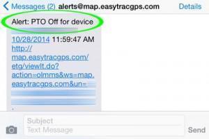 Tow Fleet GPS Tracking - PTO Activity
