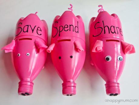 Creativity 521 61 diy piggy banks paperblog for Plastic bottle coin bank