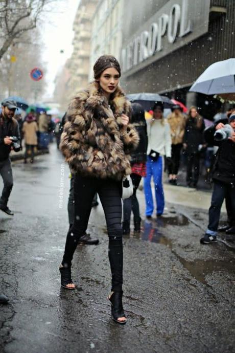 fur-Carolina Thaler after Dolce&Gabbana, Milano, February 2013