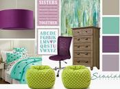Purple, Gray, Turquoise Bedroom Makeover Sisters: Part