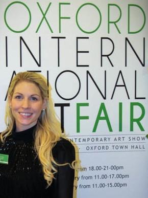 Joelle Dinnage Portrait Oxford Art Fair simon brushfield