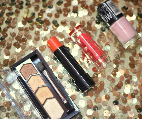 SSU Beauty Buys   Maybelline Diamond Glow Eye Shadow, Electro Pop Oh Orange and Color Show Nail Polish in Constant Candy