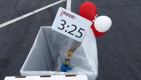 3:25 pace sign in trash