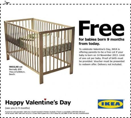 ikea baby cot for valentines day