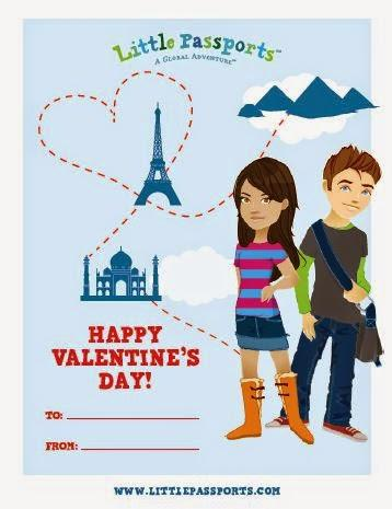 Valentine's Day Printables from Little Passports #affiliate
