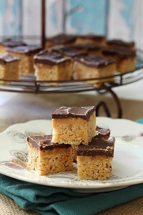 Peanut Butter Cup Rice Krispie Treats from Creative-Culinary.com