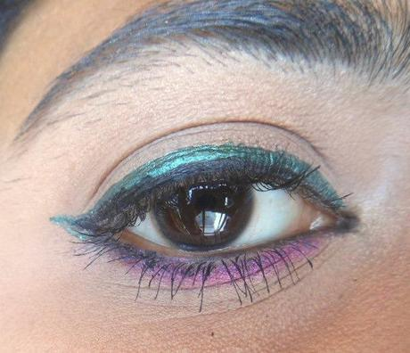 Lotus Herbals Hypnotica Pearl Shine Eye Liner Mint, Earthy Shine : Review, Swatches, Price, EOTD