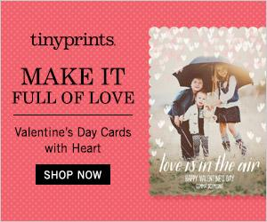 Enjoy 25% Off Personalized Valentine's Day Cards from Tiny Prints! #affiliate