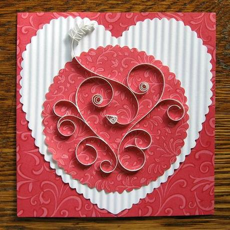 Quilled Valentine Card Tutorial