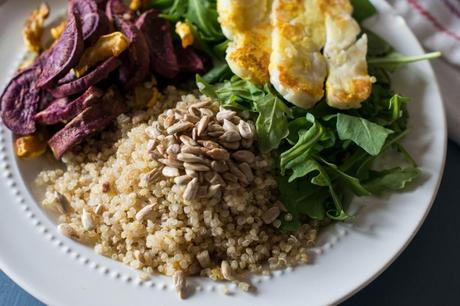 Curried Quinoa Plate